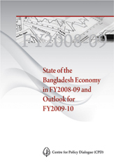 Book Cover: State of the Bangladesh Economy in FY2008-09 and Outlook for FY2009-10
