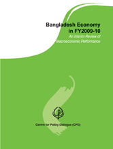 Book Cover: Bangladesh Economy in FY2009-10: An Interim Review of Macroeconomic Performance (2010)