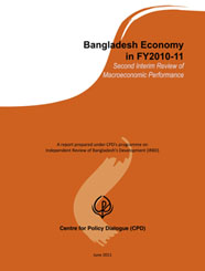 Book Cover: Bangladesh Economy in FY2010-11: Second Interim Review of Macroeconomic Performance