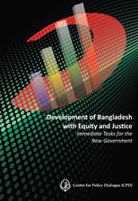 Book Cover: Development of Bangladesh with Equity and Justice: Immediate Tasks for the New Government