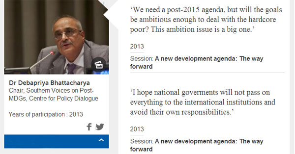 Post-2015: Debapriya Bhattacharya speaks at European Development Days
