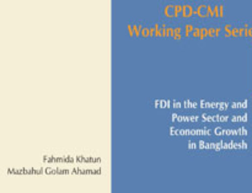 CPD-CMI Paper 7: FDI in the Energy and Power Sector and Economic Growth in Bangladesh