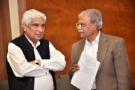 (left) Professor Deepak Nayyar with Dr Shekhar Shah