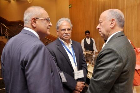 (left) Dr Debapriya Bhattacharya; Dr Shekhar Shah, Director-General, NCAER, India and HE Mr Jaime Nualart