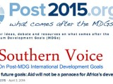 Financing future goals: Aid will not be a panacea for Africa's development