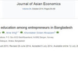 Journal article on education and entrepreneurship by Dr KG Moazzem