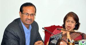 Professor Sanjay Kumar with Dr Rounaq Jahan