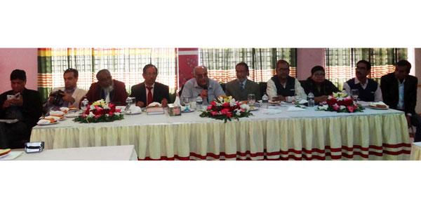 Debapriya Bhattacharya addresses civil society members in Chandpur