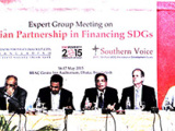 Press reports on Expert Group Meeting on Asian Partnership in Financing SDGs