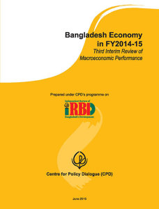 Book Cover: Bangladesh Economy in FY2014-15: Third Interim Review of Macroeconomic Performance