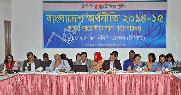 (left) Khondaker Golam Moazzem, Debapriya Bhattacharya, Towfiqul Islam Khan, Mustafizur Rahman, Anisatul Fatema Yousuf and Md. Zafar Sadique