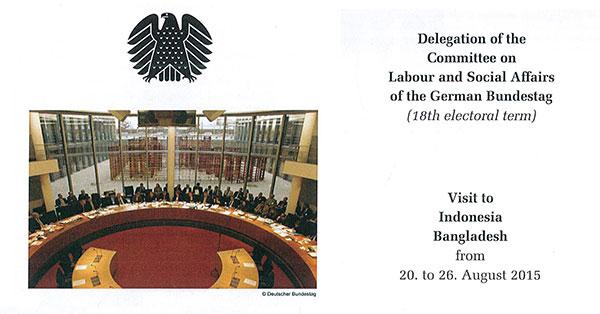 Debapriya Bhattacharya discusses trade unionism with German MPs