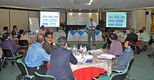 Distinguished Fellow Debapriya Bhattacharya making a presentation