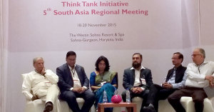 (centre) Towfiqul Islam Khan with other panellists