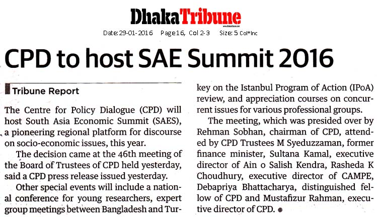 Dhaka Tribune, Page 16, January 29, 2016