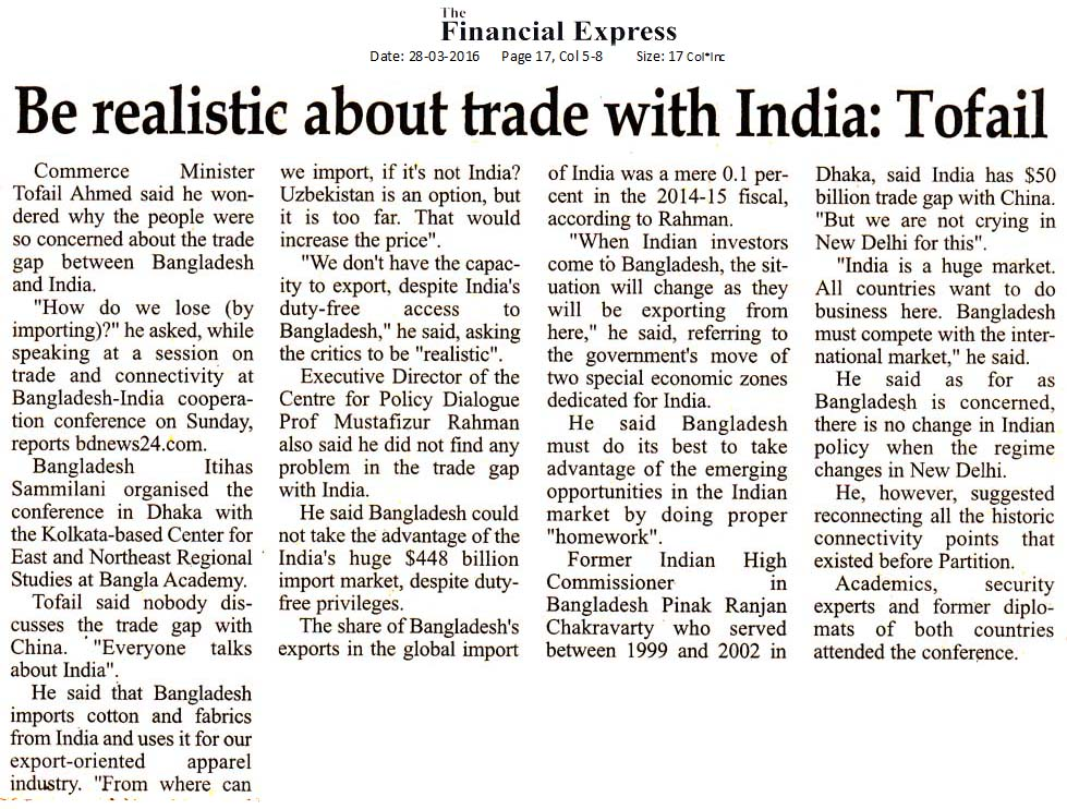 Financial Express, Page  17. March 28, 2016