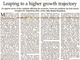 Leaping to a higher growth trajectory: Op-ed citing the State of Bangladesh Economy in FY2015-16 (second reading)