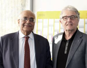 Bhattacharya (left) and Christophe Strässer (right)