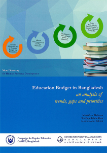 Book Cover: Education Budget in Bangladesh: an analysis of trends, gaps and priorities