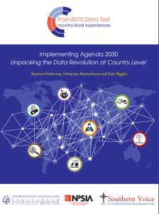 Book Cover: Implementing Agenda 2030: Unpacking the Data Revolution at Country Level (2016)