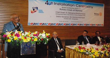 "Debapriya Bhattacharya highlights role of ""social capital"" at Rotary Meeting"