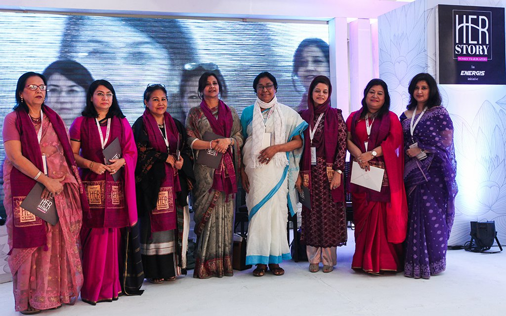 "State Minister for Posts and Telecommunications Tarana Halim presides over a discussion ""HerStory: Women Trailblazers"" exhibition held at the EMK Centre on Saturday; March 11, 2017. Energies Group, in collaboration with EMK Centre organised the exhibition to mark International Women's Day. The framework of the exhibition is a timeline of outstanding women who made lasting contributions in the fields of science, politics, economics, arts and letters Rajib Dhar/Dhaka Tribune"
