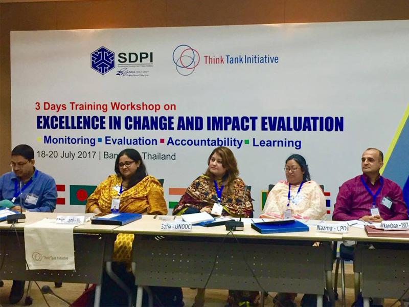 Ms Nazmatun Noor of CPD in TTI-SDPI workshop in Bangkok_18-20 July 2017_