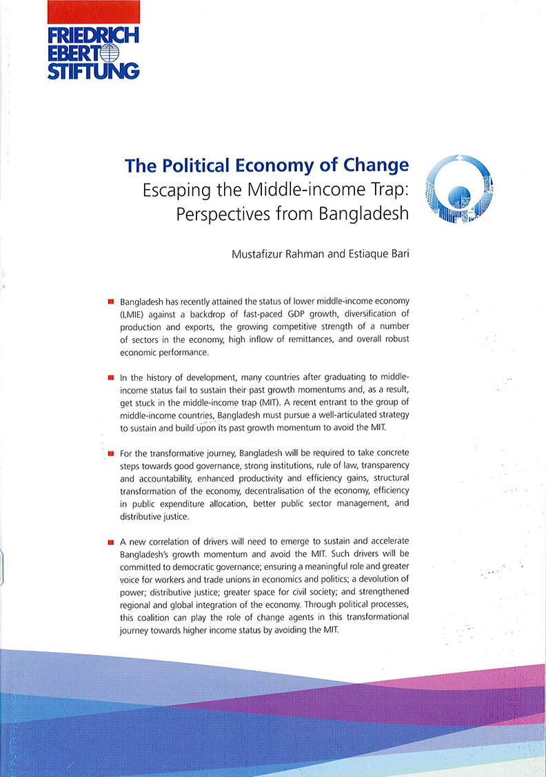 escaping a middle income trap In view of this, the centre for policy dialogue (cpd), in partnership with the friedrich-ebert-stiftung bangladesh office prepared a report titled the political economy of change- escaping the middle-income trap: perspective from bangladesh.